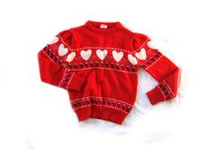 vintage 1980s sweater // children girl // by diaphanousvintage, $18.00
