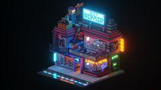 ephtracy (@ephtracy) | Twitter Cyberpunk City, Futuristic City, Pixel Art, 3d Pixel, Isometric Art, Isometric Design, Nocturne, Pixel Life, Cube World