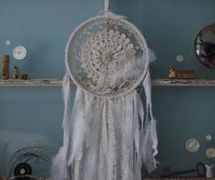 Sweet Dreams - Abandoned Vintage Bits of Fabric, Crochet and Lace Shabby Chic Dreamcatcher via Etsy ~ ♥ Shabby Chic Inspirations #shabbychic