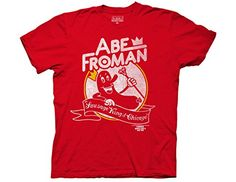 Ripple Junction Ferris Bueller's Day Off Abe Froman Adult T-Shirt  Red
