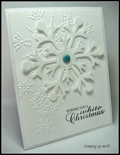 stamping up north..less is more challenge...white on white Christmas