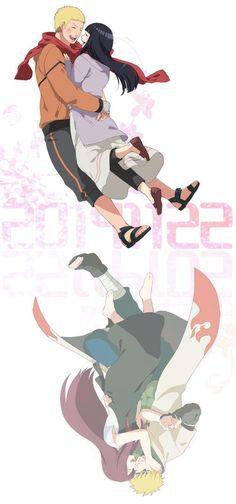 Naruto+Hinata and Minato+Kushina Naruhina, Naruto Uzumaki, Anime Naruto, Minato Y Kushina, Naruto Funny, Naruto Art, Manga Anime, Hinata Hyuga, Uzumaki Family