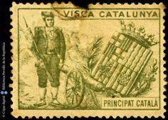 Temes-Visca Catalunya :: Segells del Pavelló de la República (Universitat de Barcelona) Vintage World Maps, Stamps, Seals, Postage Stamps, Stamp