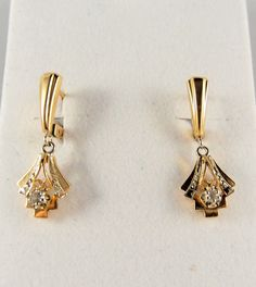 gold dangle earrings - Google Search