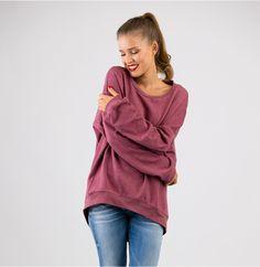Zum Reinkuscheln ist dieses oversized Sweatshirt. Perfekt für den trüben Herbst. Schnittmuster: Shirt Catrin von schnittchen.com