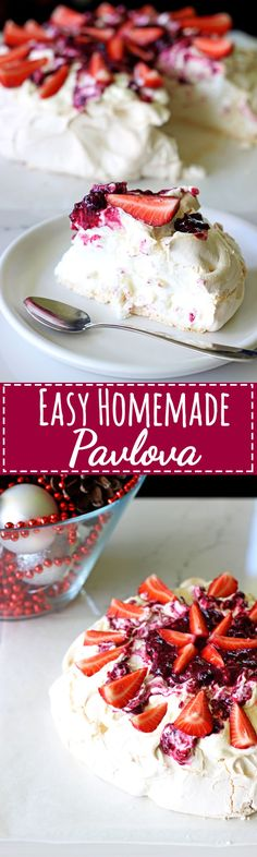 A Kiwi Christmas classic - this easy homemade pavlova will make you never want to buy one again! Covered in fresh summer berries it's the perfect dessert | thekiwicountrygirl.com