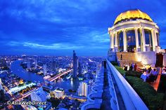 Made even more famous by hosting the Hangover II boys during filming in Bangkok, Sky Bar rooftop at Lebua State Tower offers one of the best views in the city. 63 floors up and overlooking the river, it has become a must-do for a sundowner cocktail. Around ten