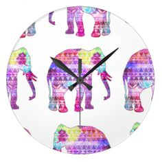 Elephants Aztec Pattern Pink Teal Nebula Galaxy Wall Clocks Yes I can say you are on right site we just collected best shopping store that haveDeals          Elephants Aztec Pattern Pink Teal Nebula Galaxy Wall Clocks lowest price Fast Shipping and save your money Now!!...