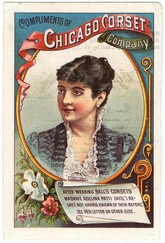 Chicago Corset Company Victorian Trade Card