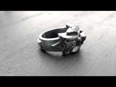N.C. Heavy Band with Black Diamonds  http://www.sofferaristore.com/ncheavyband.html
