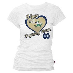 Notre Dame Fighting Irish I Love My Fighting Irish Tee - Juniors'