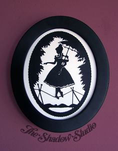 The Tightrope Walker - Haunted Mansion Framed Silhouette Papercut Illustration Art by TheShadowStudio