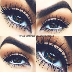 eye make up. Love the eye lashes! Kiss Makeup, Cute Makeup, Gorgeous Makeup, Pretty Makeup, Hair Makeup, Eyeshadow Makeup, Yellow Eyeshadow, Eyeshadows, Eyeshadow Palette