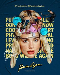 Dua Lipa Concert, Cool Poster Designs, Indie, Cover Songs, Room Posters, Vintage Travel Posters, Concert Posters, Album Covers, My Idol