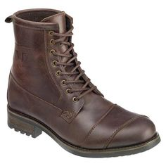 The Triumph Classic Brown Boots are authentic style motorcycle boots made with water-resistant leather, TPU high abrasion sole, and shifter shield.