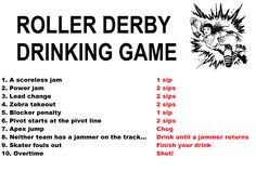 Watch a roller derby bout with beers and friends and follow these rules!