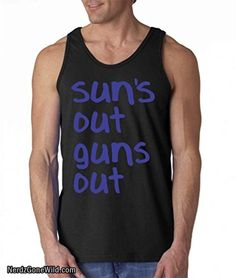 free shipping a4951 43634 Suns Out Guns Out Tank Top Gym Gear For Men, Workout Gear For Men,