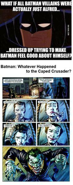 Alfred as The Joker? It did happen