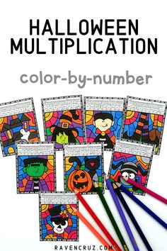 These Halloween color by number worksheets for multiplication are a great way for students to practice multiplication facts this fall season. Your 3rd and 4th grade math students will love this fun math activity! #mathwithraven Halloween Math Worksheets, 3rd Grade Math Worksheets, Number Worksheets, Multiplication Facts, Math Facts, Math Rotations, Math Centers, Fun Math Activities, Math Resources