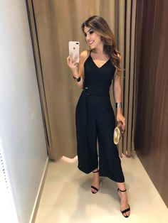 Imagem 3 Cute Fashion, Look Fashion, Chic Outfits, Fashion Outfits, Womens Fashion, Olive Jumpsuit, Designer Party Wear Dresses, Looks Chic, Jumpsuits For Women