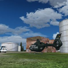 EC 135 in Germany. ORBX FTX Nothern Germany