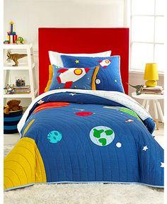 Martha Stewart Collection Kids Destination Space Quilts - Kids' Bedding - Bed & Bath - Macy's