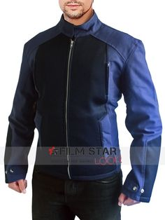 Thanksgiving occasion special offer Buy Captain America Steve Rogers elegant Blue Cotton material Jacket unbelievable low cost offer accessible at The Filmstarlook online store. free international shipping.