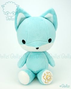 Hey, I found this really awesome Etsy listing at https://www.etsy.com/listing/159212559/bellzi-cute-teal-w-white-contrast-fox