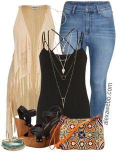 Plus Size Outfit Idea - Plus Size Boho Vest - Plus Size Fashion for Women - alexawebb.com #alexawebb