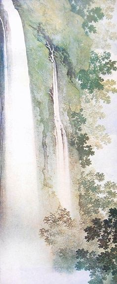 Vintage Japanese Print Waterfall in Summer by VintageFromJapan, $6.50