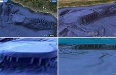 Google Earth ci regala delle immagini a dir poco misteriose. Molti cacciatori di UFO pensano sia una base segreta extraterrestre.