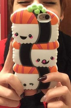 I wouldn't choose THIS iPhone case but I really do need one and I want a cute one like this! I think if it was pink it would perfect. But you can't make sushi all pink. Ipod Cases, Cute Phone Cases, Iphone Phone Cases, Phone Covers, Iphone 11, Apple Iphone, Kawaii Phone Case, Diy Phone Case, Sushi Phone
