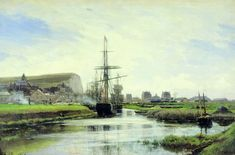 Трепор. Нормандия - Боголюбов Алексей Петрович Russian Landscape, Ship Paintings, Russian Painting, Travel Around Europe, Normandy, Stretched Canvas Prints, Canvas Artwork, Art Pictures, Sailing Ships