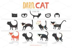 Darn Cat (Vector) by Small Made Goods on Creative Market