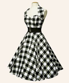 VIVIEN OF HOLLOWAY 50'S ROCKABILLY VINTAGE STYLE UK SIZE 20 GINGHAM DRESS -Love this look