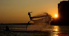 Discovered fly boarding last summer, can't wait to do it again. #Flyboard #Sunset #Bayou #Mississippi #Coastlife