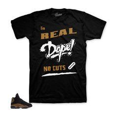 86b721517f113e Jordan 13 Olive Shirt - No Cuts - Black