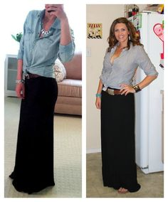 hey, long black skirts can look pretty: good to know for going to Jordan
