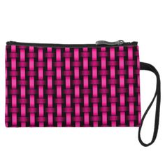 Pink Thatch Zip Top Clutch by BOLO CHIC.