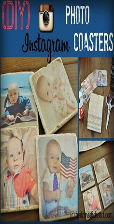 DIY Photo Coasters using your photos from instagram