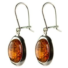 Certified Genuine Honey Amber and Sterling Silver Oval Earrings Ian and Valeri Co.. $25.00. Amber is the lightest and warmest stone that exists, which makes it the most comfortable and attractive gem in jewelry.