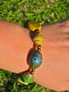 Haitian Beads by Trades of Hope.  Some of the beads are made from cereal boxes http://www.mytradesofhope.com/georgiaspearman
