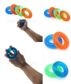 [Visit to Buy] 1pcs 30kg/40kg Training Hand Muscle Palm Finger Grip Muscle Wrist Strength Rubber Ring Fitness Gym Power Exercise Gripper #Advertisement
