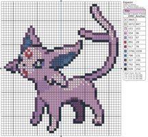 Pokemon - Espeon III by Makibird-Stitching