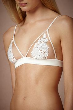 Maid of Orleans Bra and Knickers | 35 Dreamy Wedding Lingerie Ideas