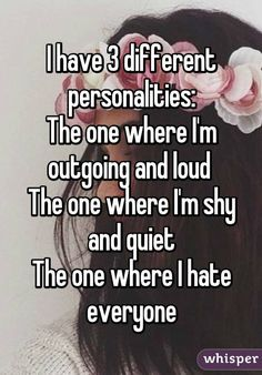 I hate everyone, Hate everyone, How to be outgoing, True quotes, Relatable quote. Mood Quotes, True Quotes, Funny Quotes, Shy Quotes, Girl Quotes, Qoutes, Motivation Positive, Whisper Quotes, I Hate Everyone