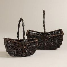 One of my favorite discoveries at WorldMarket.com: Sophie Picnic Baskets, Brown
