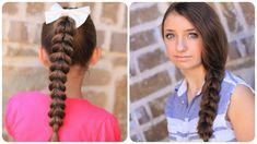 Cute Hairstyles And Easy Braids - pull-through braid Cute Simple Hairstyles, Cute Girls Hairstyles, Pretty Hairstyles, Braided Hairstyles, 5 Minute Hairstyles, My Hairstyle, Hair Videos, Hair Hacks, Hair Inspiration