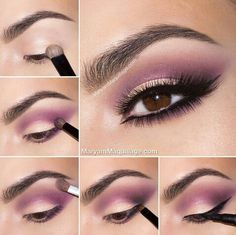 Tutorial on Smokey purple eye makeup tutorial by Maryam M by Vanessa Lopez. Check out more Makeup on Bellashoot. Purple Eye Makeup, Purple Eyeshadow, Love Makeup, Simple Makeup, Makeup Inspo, Makeup Inspiration, Beauty Makeup, Hair Makeup, Makeup Tips