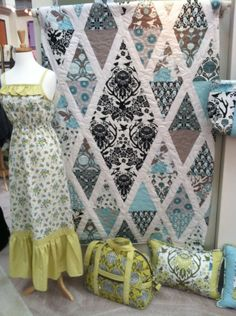 Joel Dewberry's new line, Birch Farm.  2014 Spring Quilt Market, photo by Thread Fabric Store